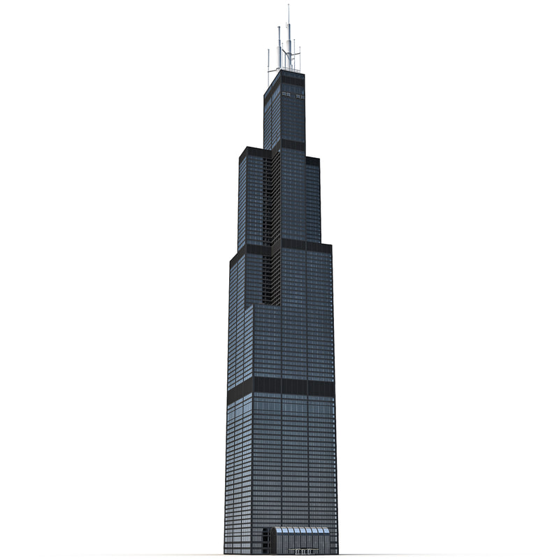 3d model willis tower