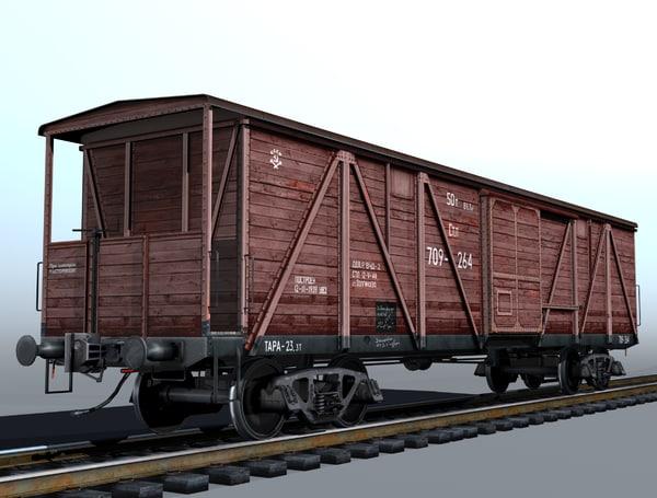 4-axle cargo boxcar ma