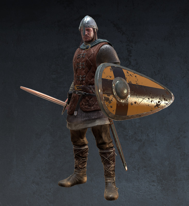 medieval soldier 3d max