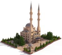 ottoman mosque 3d model