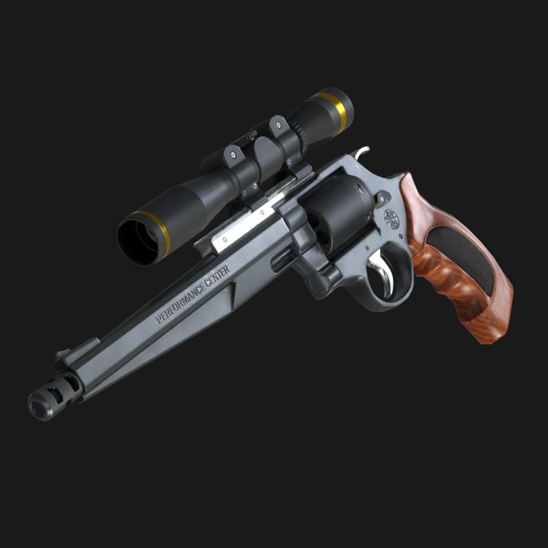 performance center revolver 3d model