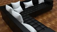 Dark Leather Sofa