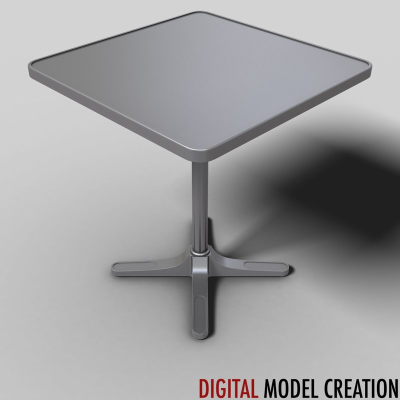 table bistros restaurants 3d model