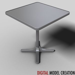 table bistros restaurants 3d model