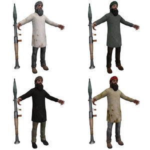 taliban pack obj