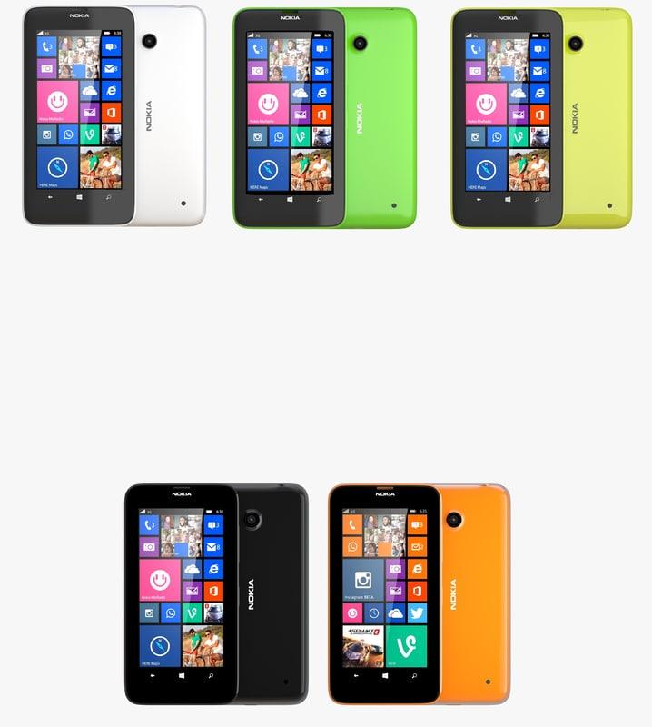 3d nokia lumia 630 635