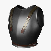 3d model breastplate cuirasier