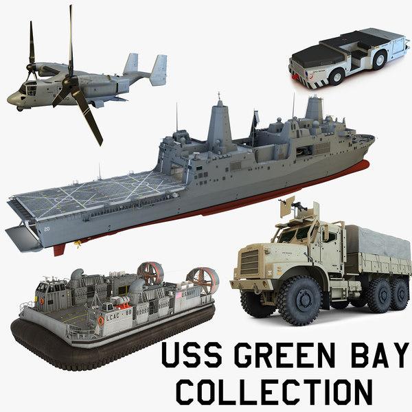 3d uss green bay model