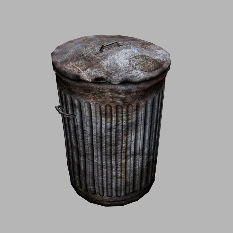 max dustbin trashcan