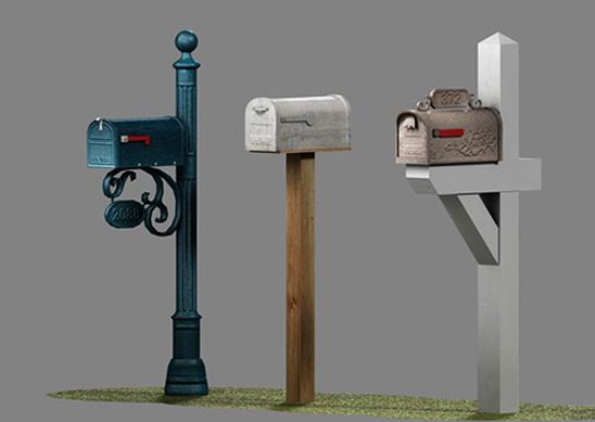 3d u s mailboxes - model