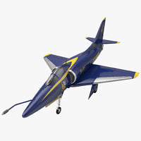 Attack Aircraft A-4 Skyhawk Blue Angel