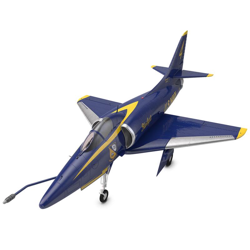 attack aircraft a-4 skyhawk 3d c4d