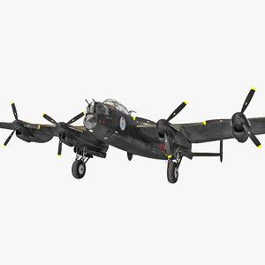 british heavy bomber avro lancaster 3d max
