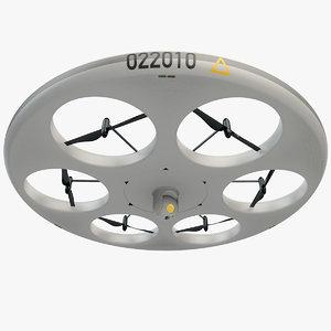 uav surveillance drone 3d 3ds