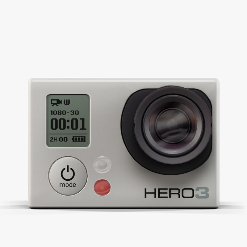 max low-poly gopro hero3 camera