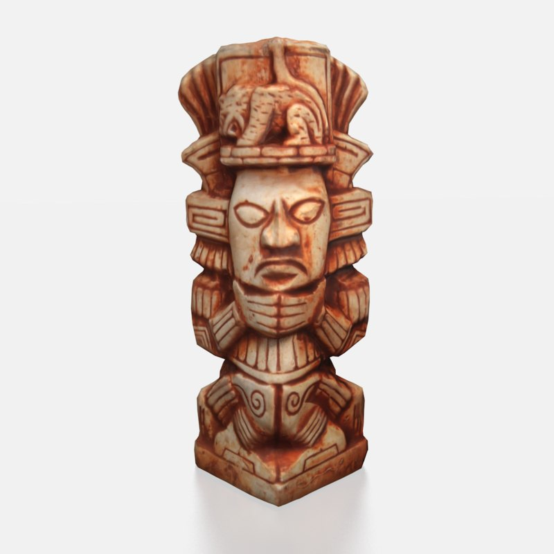 mayan figurine 3d model