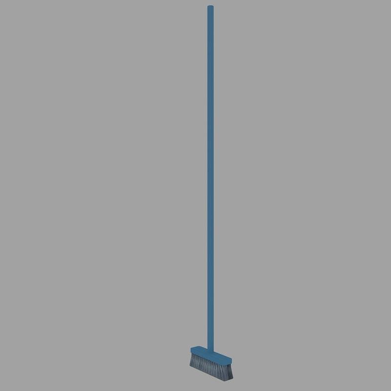 3ds broom plastic 4