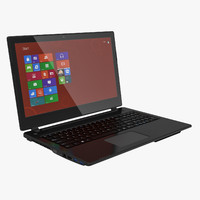 black premium laptop touch screen 3d max