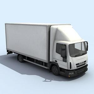 medium size truck 3d max