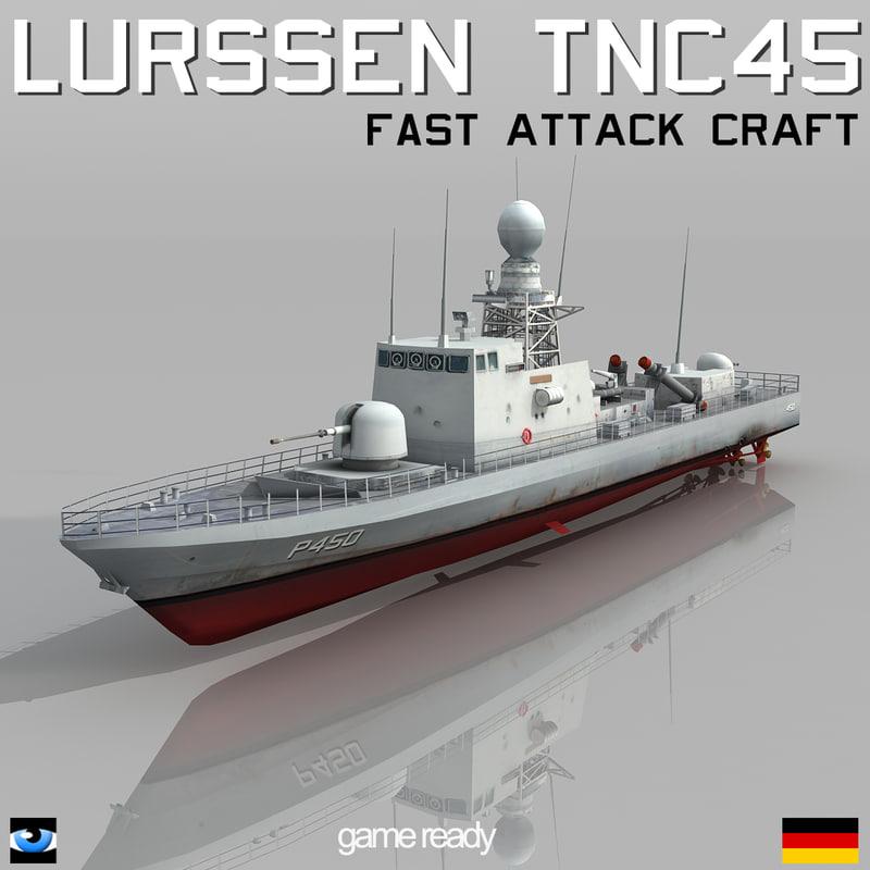 3ds max lurssen tnc 45 missile