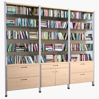 3d model bookcase mht-01