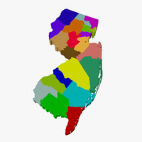 County Map-New Jersey