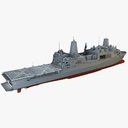 amphibious transport dock ship 3D models
