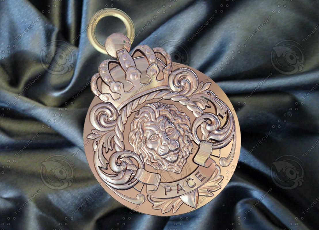 medallion lion 3d model