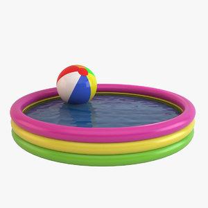 3ds max inflatable kiddie pool