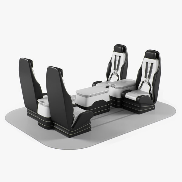 3d helicopter business seats model