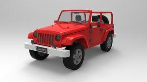 wrangler rubicon 3d model