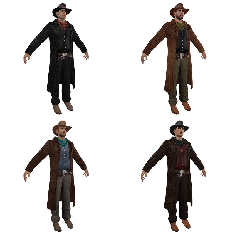 3ds max pack cowboy 3