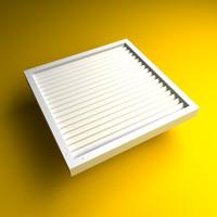 3d model vent grille