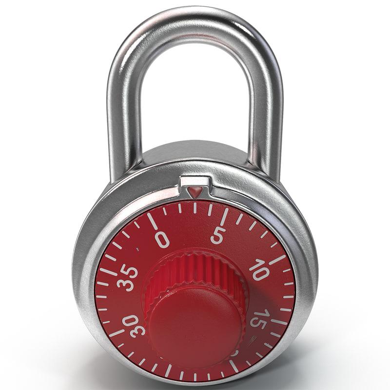 3d combination padlock