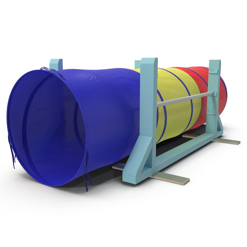 3d dog agility tunnel model