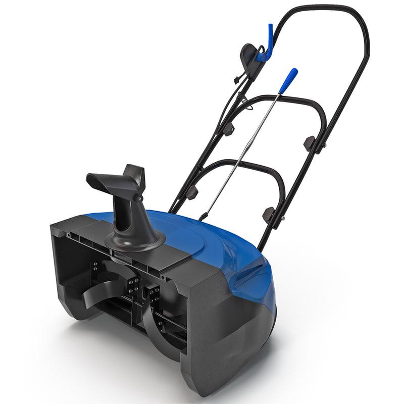 electric snow thrower sj620 3d max