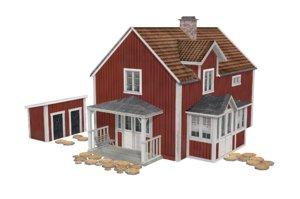 finnish house 3d obj