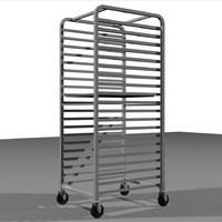 Sheet Tray Rack With Trays: Restaurant Style