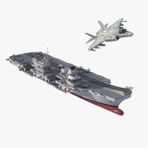 3d model queen elizabeth aircraft carrier