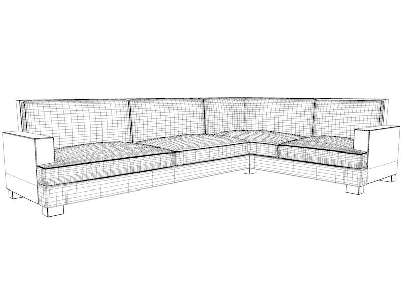3d vita lounge sofa - model