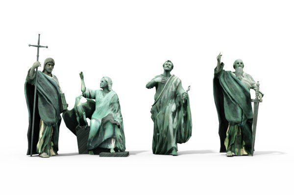 statues cathedral 3d obj