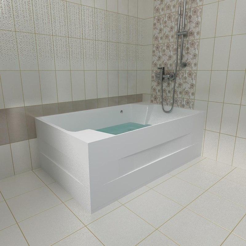 tub kolpa nabucco 190x120 3d 3ds
