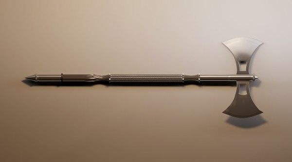 3dsmax battle axe