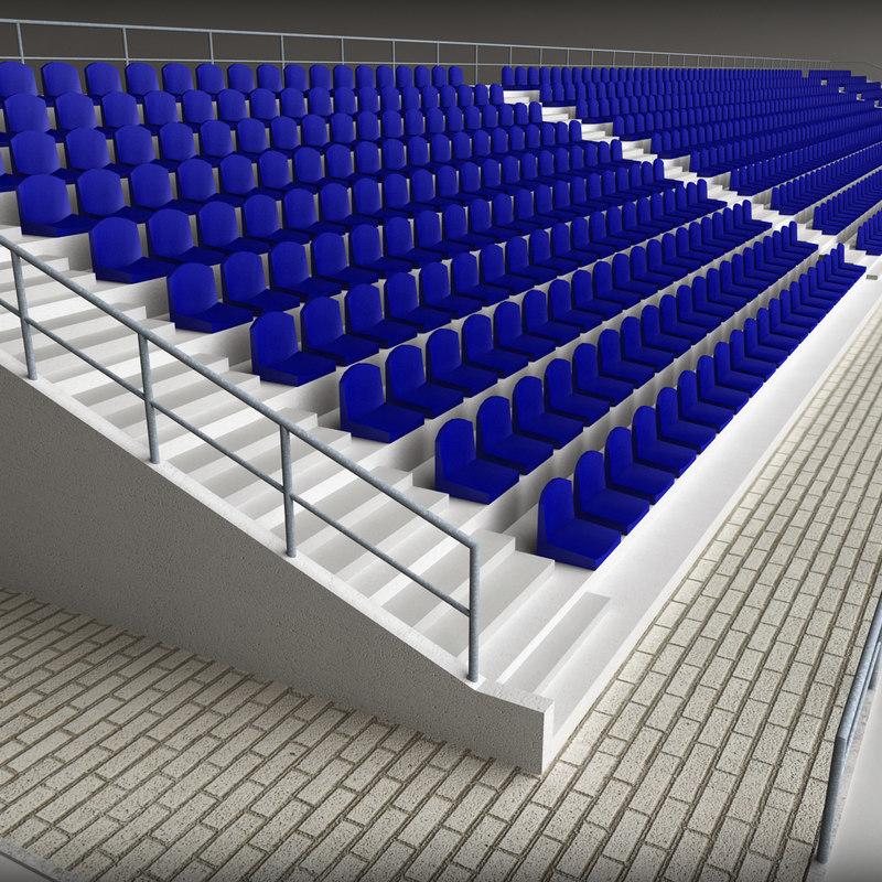 concrete stadium seating tribune 3ds