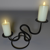 realistic candle holder 3ds