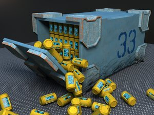 3d model of sci-fi container
