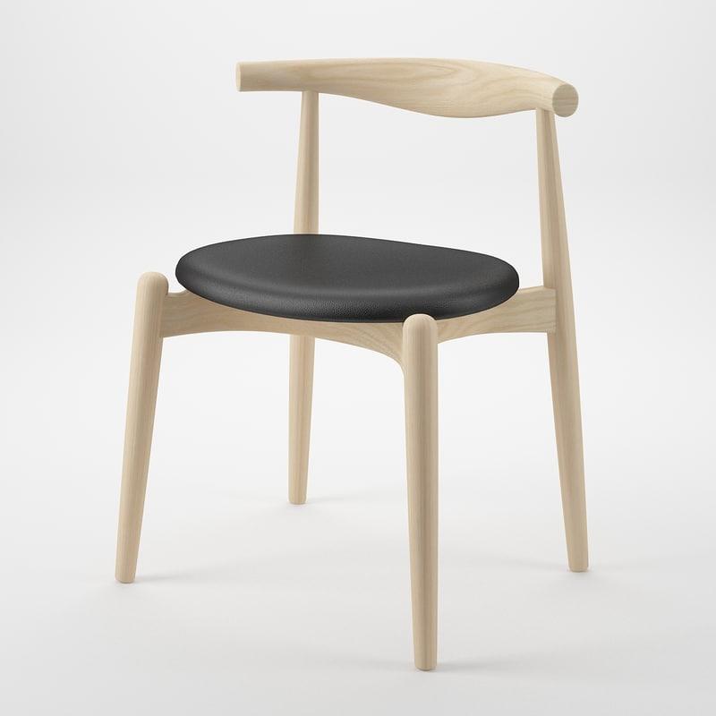 3d model elbow chair hans j