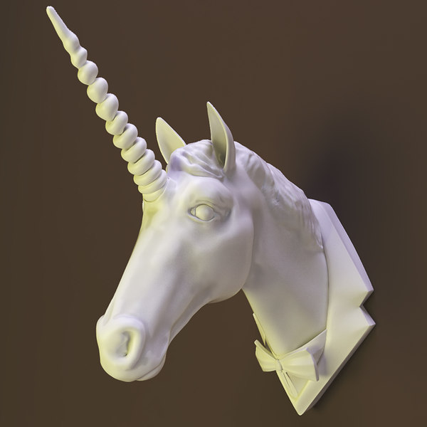 3d model unicorn horse decor wall