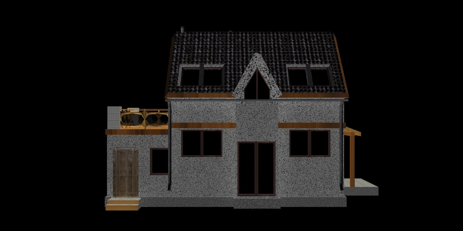free max model house simple