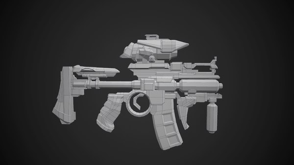 concept m4 rifle ready 3d model